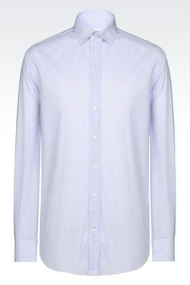 Armani Long sleeve shirts Men shirt in stretch cotton