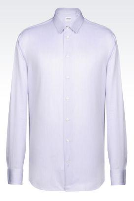 Armani Long sleeve shirts Men shirt in twill