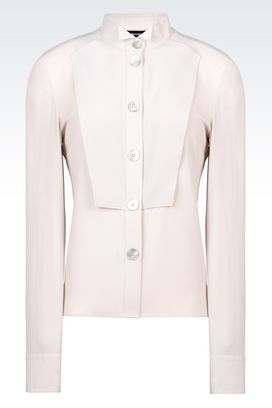 Armani Long sleeve shirts Women shirt in sablé silk blend