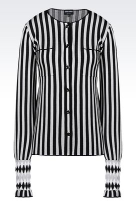 Armani Shirts Women striped silk blouse