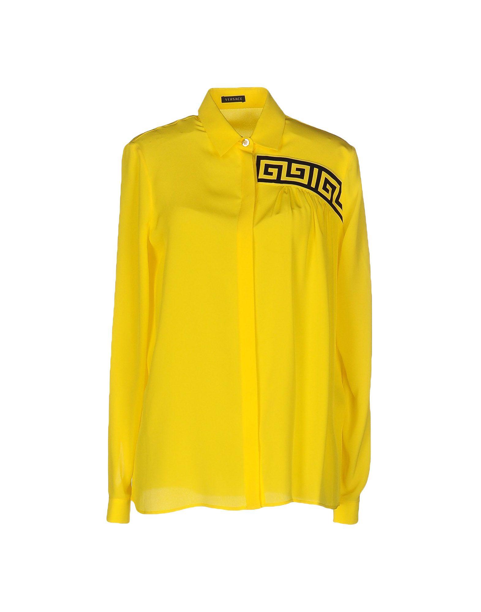 VERSACE Damen Hemd Farbe Gelb Größe 3
