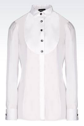 Armani Shirts Women cotton dinner shirt