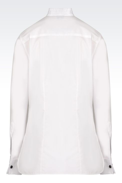 COTTON DINNER SHIRT: Shirts Women by Armani - 3