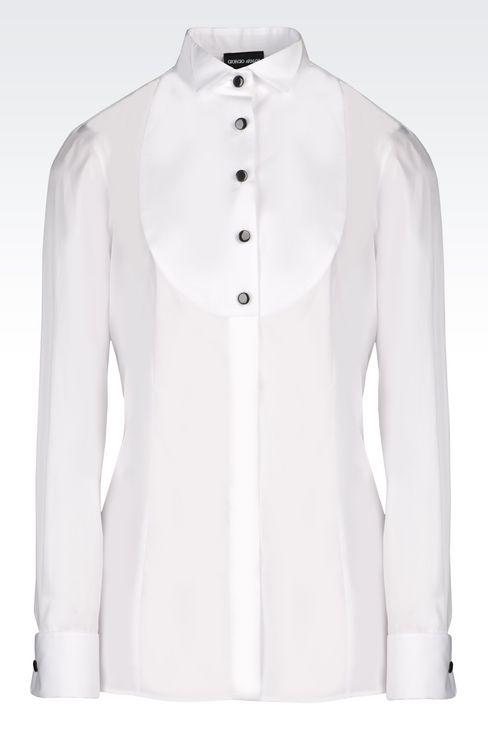 COTTON DINNER SHIRT: Shirts Women by Armani - 1