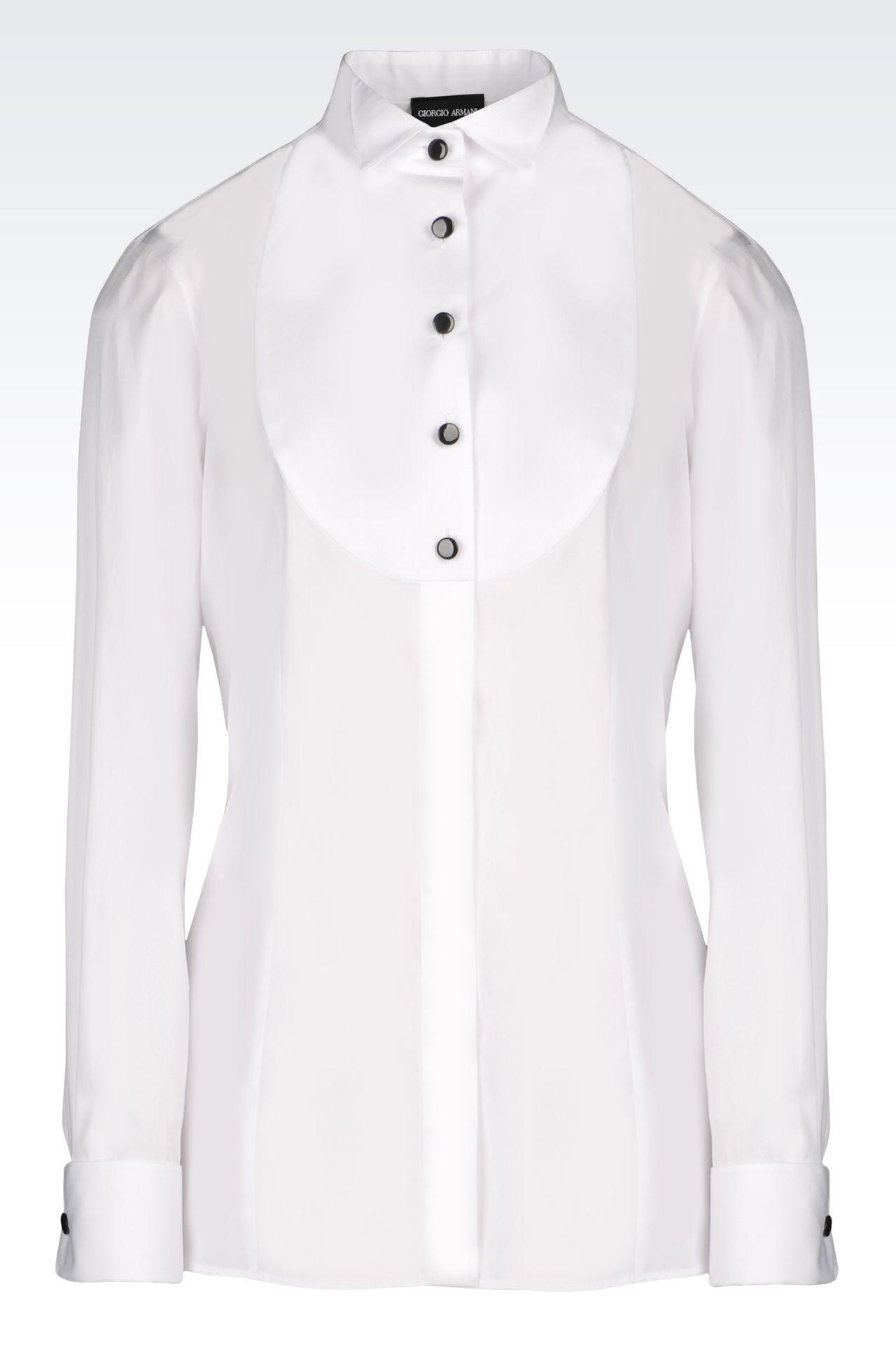 COTTON DINNER SHIRT: Shirts Women by Armani - 0