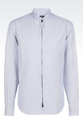 Armani Shirts Men shirt in interlock