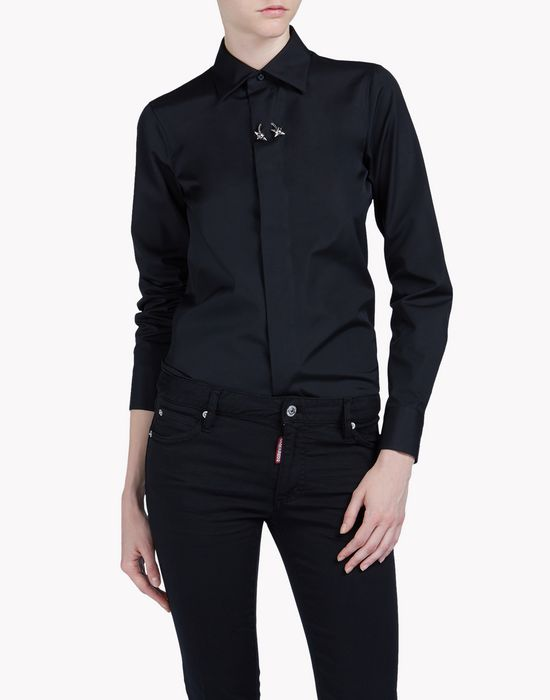 boxy pointed collar shirt shirts Woman Dsquared2