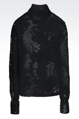 Armani Shirts Women blouse in fil coupé