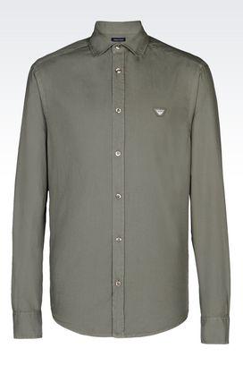 Armani Long sleeve shirts Men denim shirt