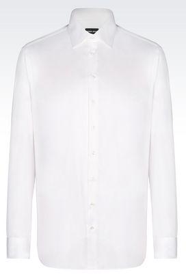 Armani Shirts Men shirt in twill