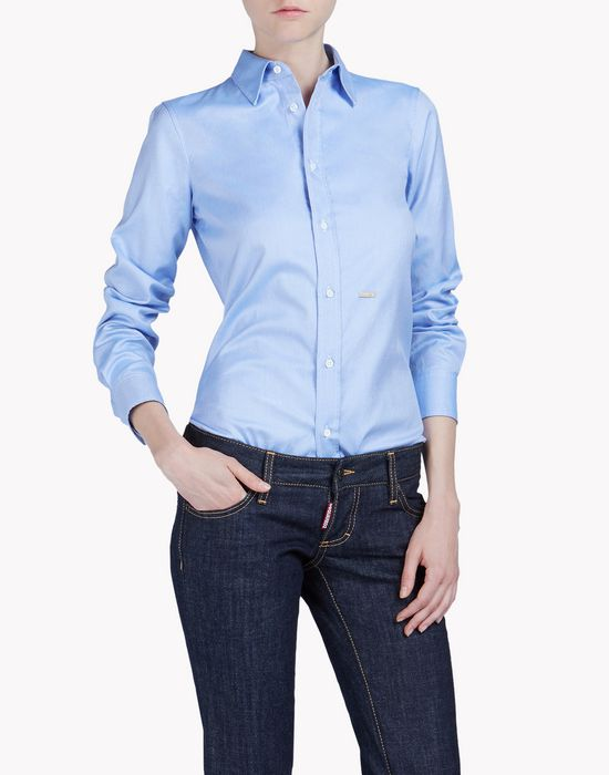 point collar shirt shirts Woman Dsquared2