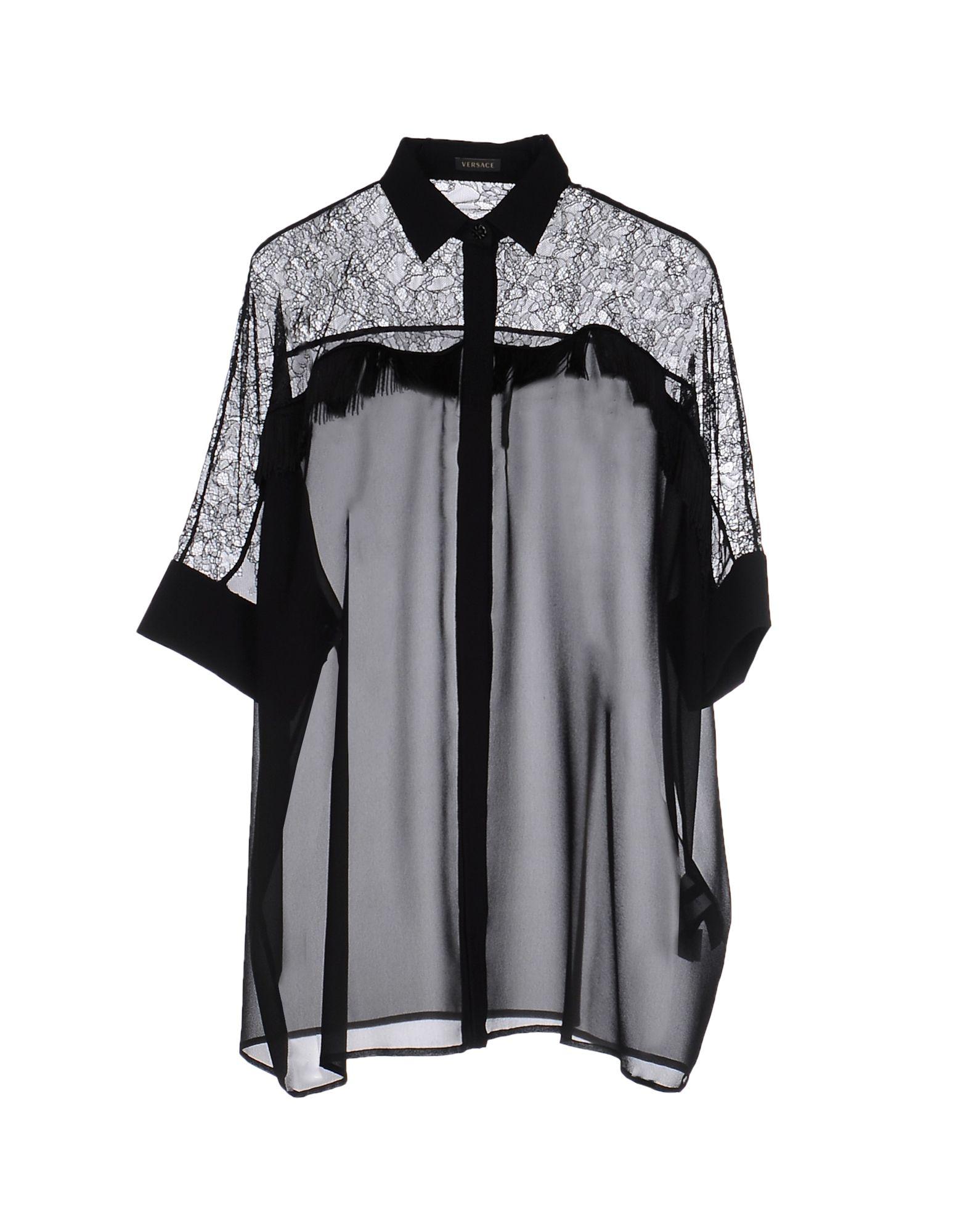 VERSACE Damen Hemd Farbe Schwarz Größe 5