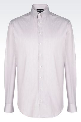 Armani Shirts Men classic collar cotton jacquard shirt