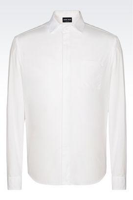 Armani Shirts Men classic collar cotton shirt
