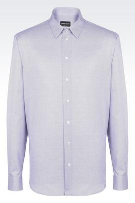 Armani Camicie Uomo camicia in cotone con collo classico