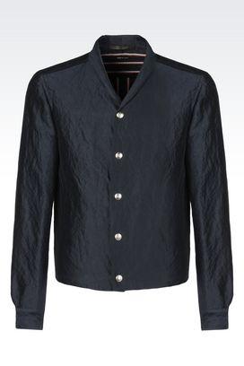 Armani Shirts Men silk and cotton satin shirt