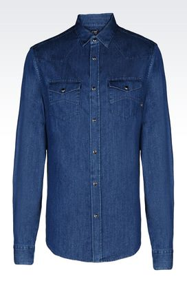 Armani Long sleeve shirts Men denim shirt
