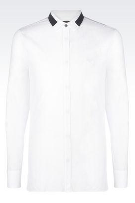 Armani Camicie maniche lunghe Uomo camicia in mussola di cotone