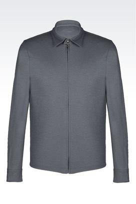 Armani Shirts Men full zip jersey shirt
