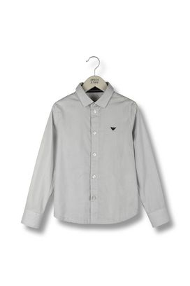 Armani Long sleeve shirts Men long-sleeved canvas shirt with all over pattern