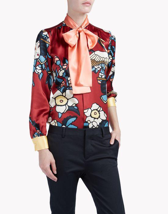 cherry blossom silk shirt shirts Woman Dsquared2