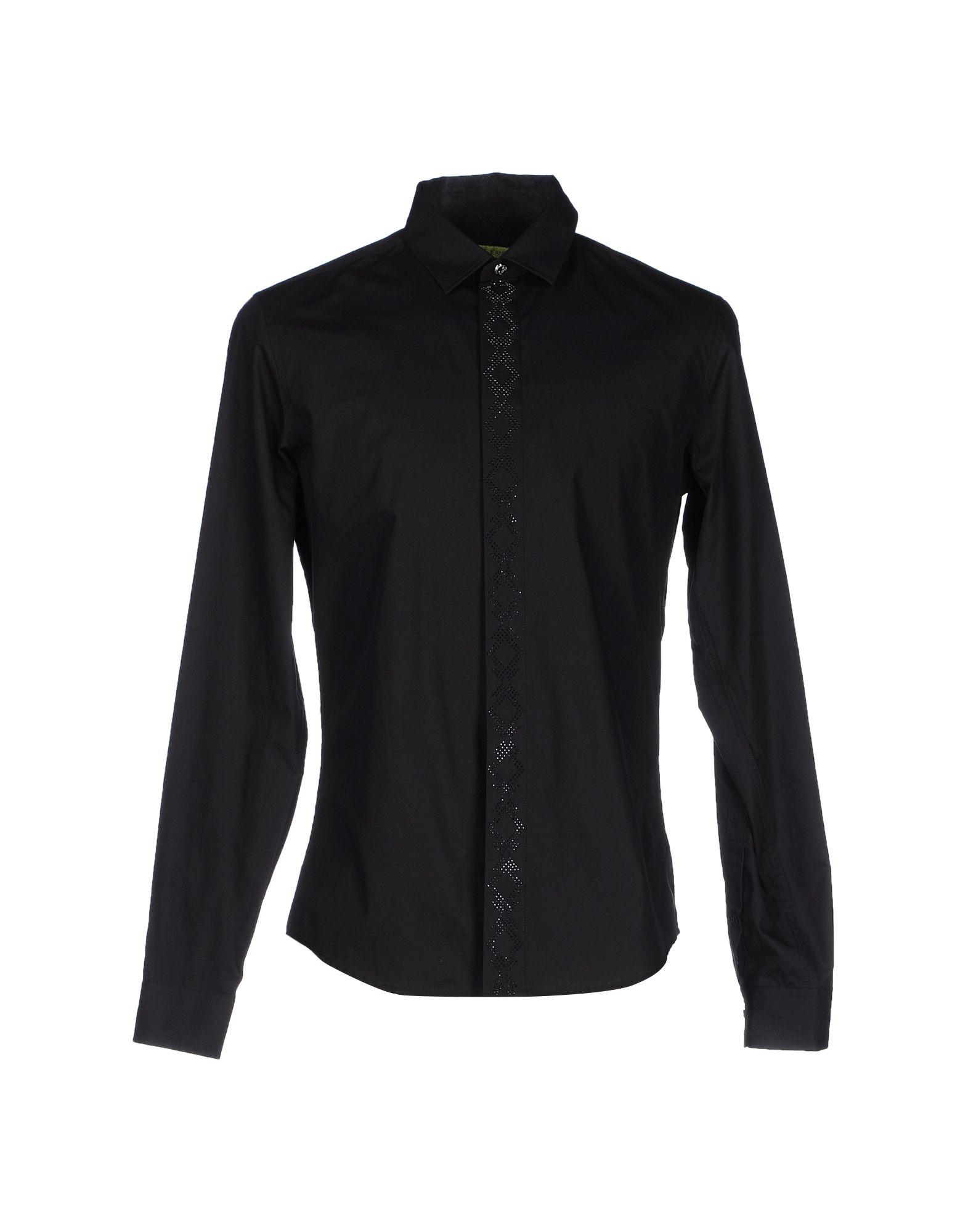 VERSACE JEANS Herren Hemd Farbe Schwarz Größe 5