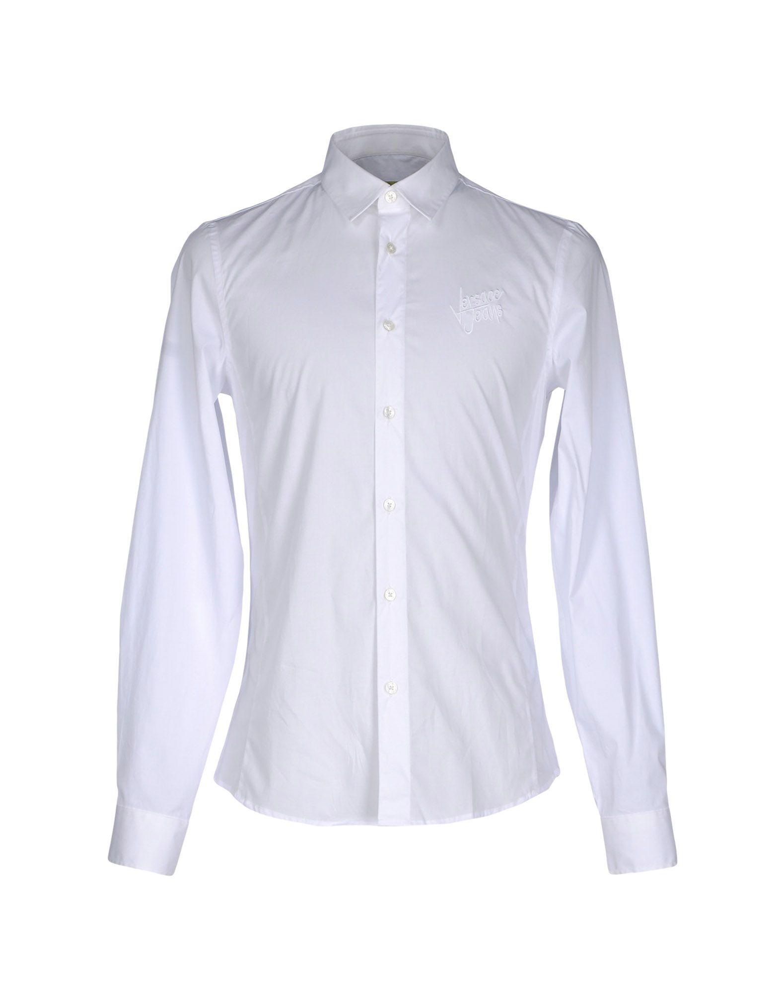 VERSACE JEANS Herren Hemd Farbe Weiß Größe 5
