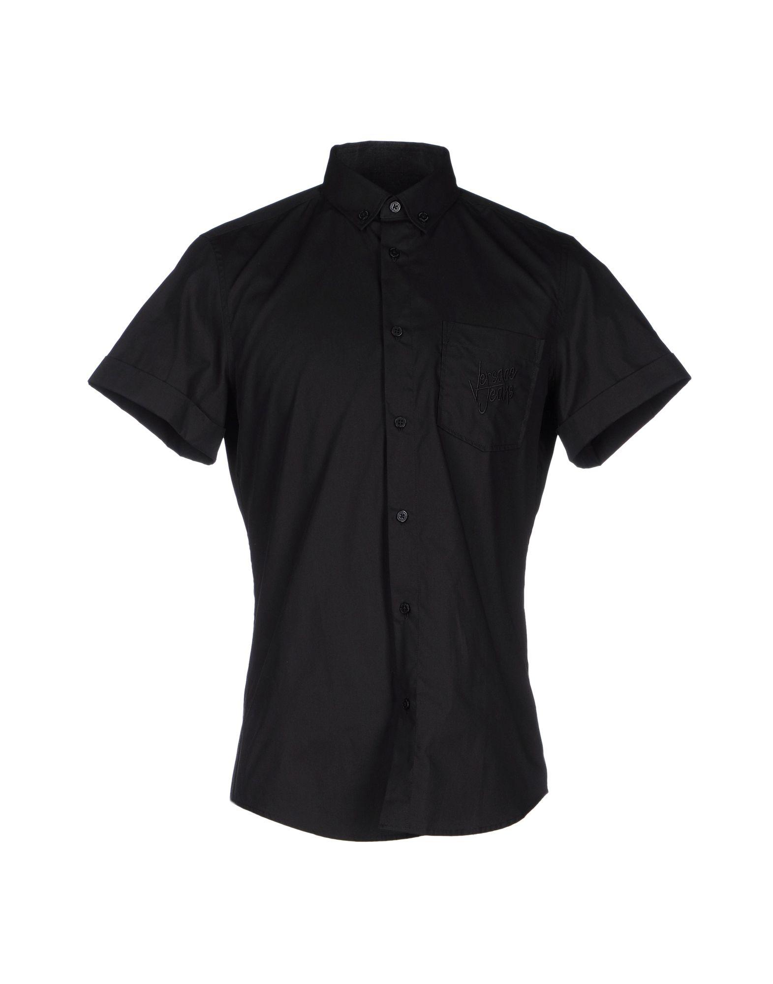 VERSACE JEANS Herren Hemd Farbe Schwarz Größe 6