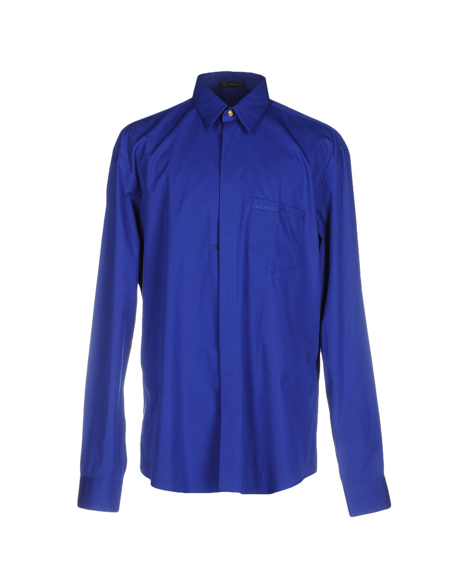 VERSACE Herren Hemd Farbe Königsblau Größe 3