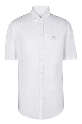 Armani Camicie maniche corte Uomo camicia maniche corte in lino con logo