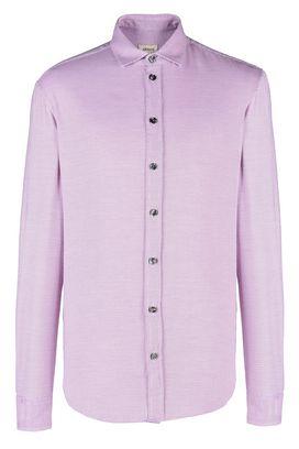 Armani Camicie maniche lunghe Uomo camicia in cotone jacquard