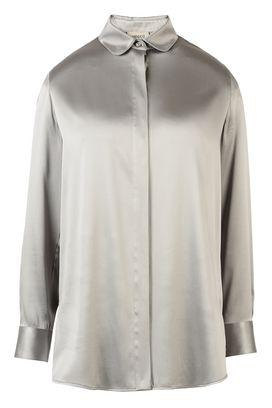 Armani Camicie maniche lunghe Donna camicia in raso di seta stretch