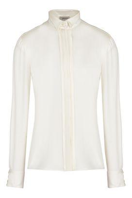 Armani Camicie maniche lunghe Donna camicia in seta collo classico