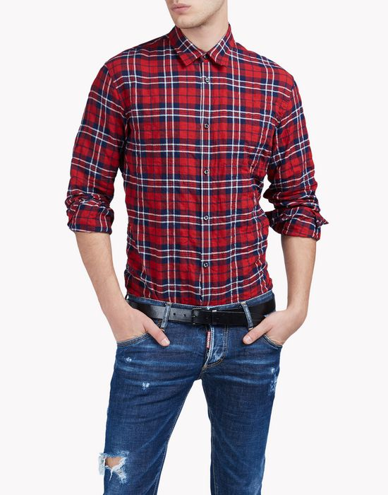relaxed-fit check shirt shirts Man Dsquared2