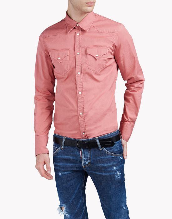 stretch cotton shirt  camisas Hombre Dsquared2