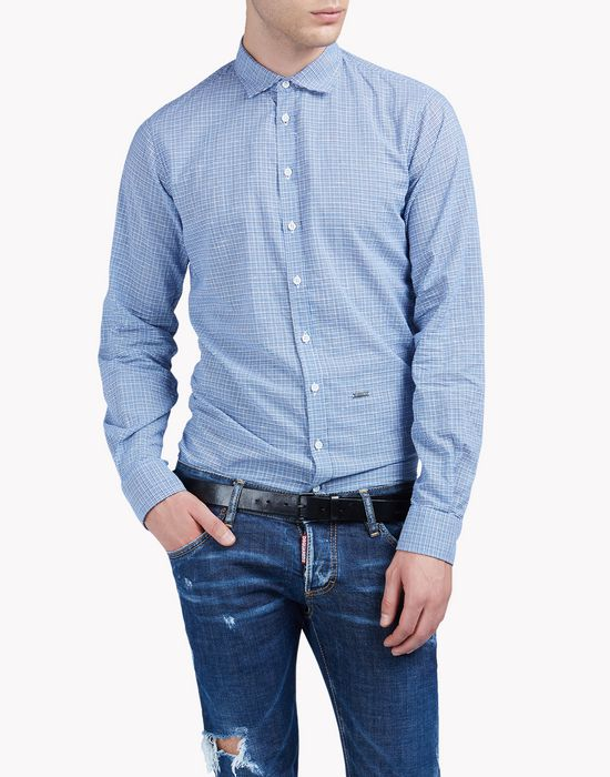 check cotton silk shirt camisas Hombre Dsquared2