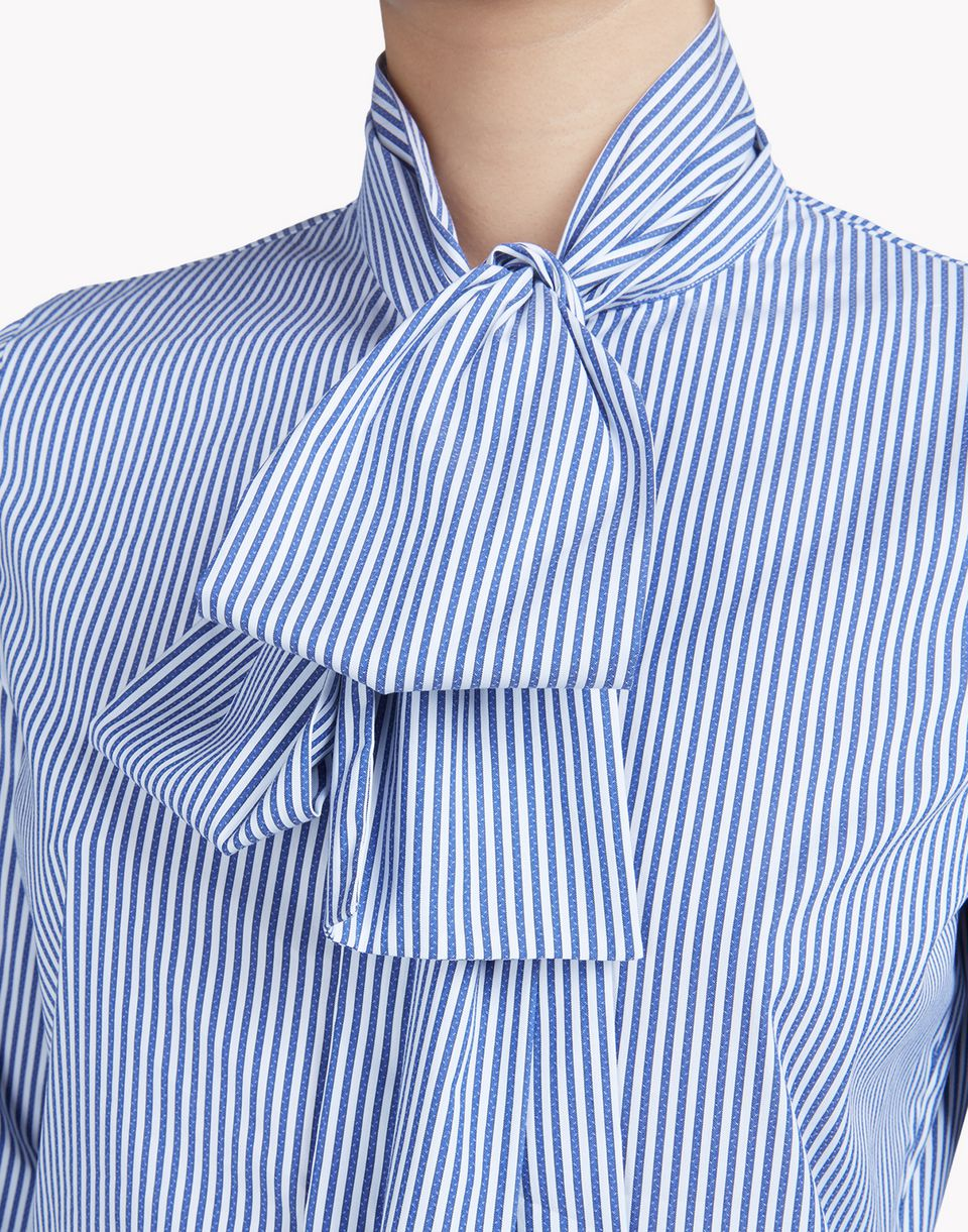 striped cotton pussy bow shirt shirts Woman Dsquared2