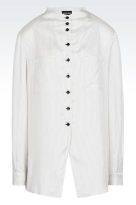 Armani Shirts Women striped satin shirt