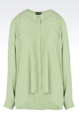 Armani Shirts Women print crêpe shirt