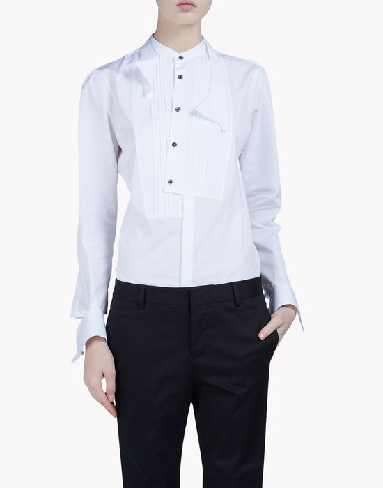 poplin bib shirt shirts Woman Dsquared2