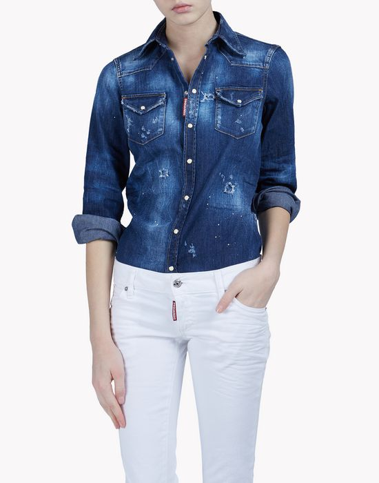 western denim shirt shirts Woman Dsquared2