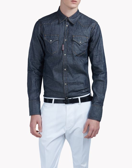 dark wash denim shirt shirts Man Dsquared2