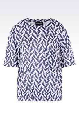 Armani Camicie Donna blusa in jersey bambÙ di cachemire