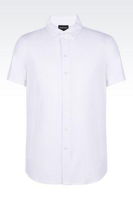 Armani Camicie Uomo camicia in jersey a maniche corte