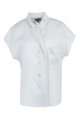 Armani Short sleeve shirts Women short-sleeved 100% linen shirt