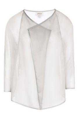 Armani Camicie maniche lunghe Donna camicia in organza di seta