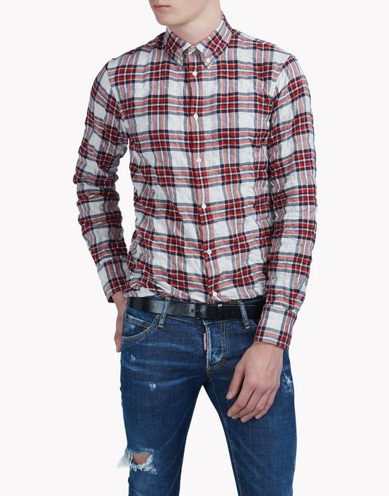 cotton check shirt shirts Man Dsquared2