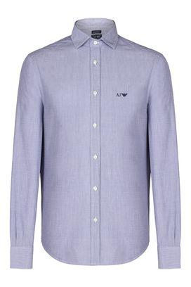 Armani Camicie maniche lunghe Uomo camicia in cotone con logo