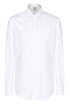 Armani Camicie maniche lunghe Uomo camicia in cotone righe tono su tono