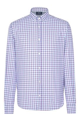 Armani Long sleeve shirts Men checked 100% cotton shirt